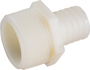 AMC 53701 Hose To Pipe Insert Adapter, 3/8 X 3/4 in, Barb X MIP, Nylon